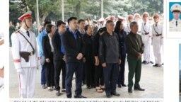 Một số người được cho là từ Đồng Tâm đến viếng lễ tang 3 viên công an thiệt mạng trong vụ 9/1