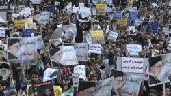 هواداران آیت الله خامنه ای در تجمعی پس از نماز جمعه تهران خواستار اعدام موسوی و کروبی شدند