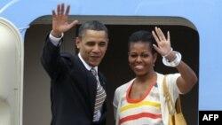 Tổng thống Hoa Kỳ Barack Obama và Ðệ nhất Phu nhân Michelle Obama trong chuyến công du Brazil