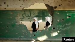 Sebuah sekolah Palestina di Gaza City, Jalur Gaza yang didanai oleh UNRWA, tampak mengalami kerusakan akibat serangan Israel (foto: dok).