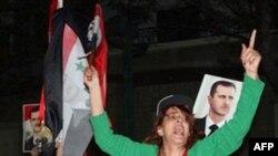 Прихильники президента Башара Асада протестують проти рішення Ліги арабських держав