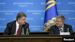 На фото: Петро Порошенко та Ігор Коломойський у 2015-му році