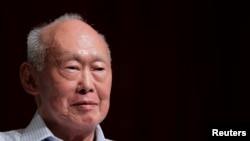 FILE - Former Singapore Prime Minister Lee Kuan Yew on September 14, 2011.