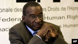 Le président de l'Assemblée des Etats parties au statut de Rome, Sidiki Kaba, anime une conférence à Paris, France, 28 octobre 2005.