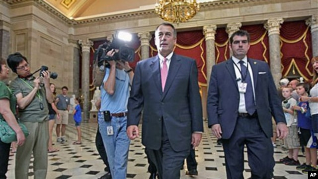 House Speaker John Boehner on Capitol Hill in Washington, Aug. 1, 2011