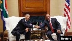 Entretiens Obama-Zuma à Pretoria