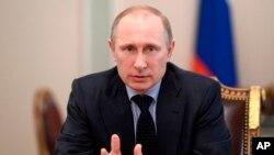 2014年3月28日俄罗斯总统普京在克里姆林宫发表讲话