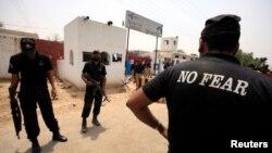 Polisi khusus Pakistan menjaga sebuah penjara teroris di Sargodha, Punjab (foto: dok).