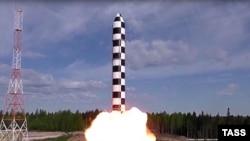 """Бросковые испытания тяжелой жидкостной межконтинентальной баллистической ракеты """"Сармат"""""""