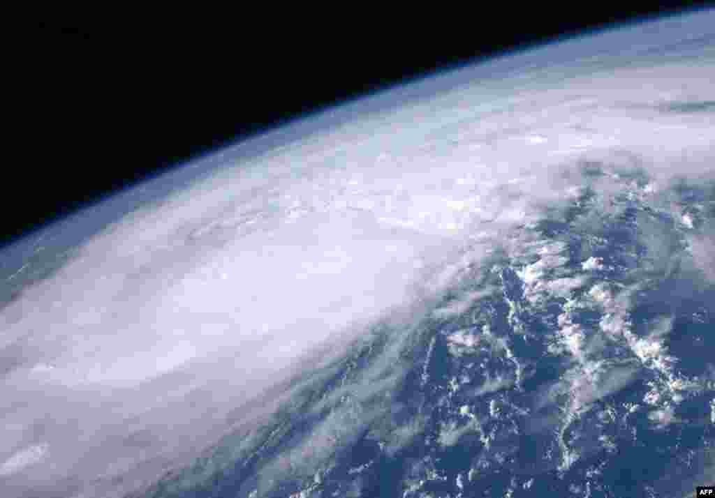 August 25: NASA image of Hurricane Irene moving over the Caribbean taken by astronaut Ron Garan from the International Space Station. REUTERS/NASA/Ron Garan