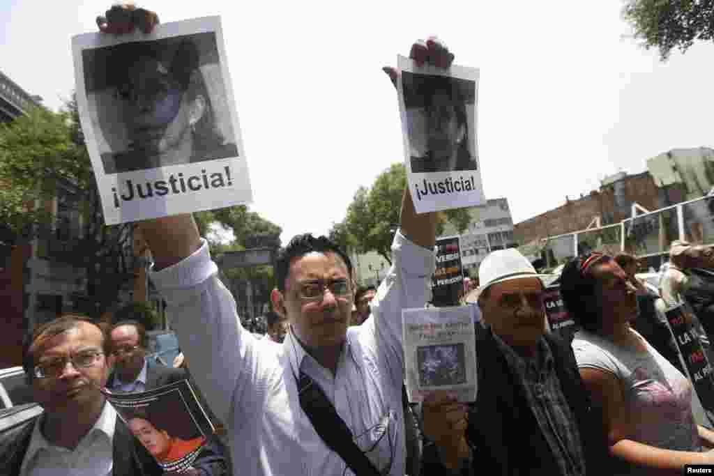 Портрет мексиканского журналиста Регины Мартинес, задушенной и убитой неизвестными