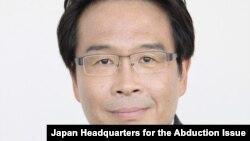 마쓰바라 진 일본 납치 문제 담당상. (자료사진)