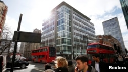 Le siège de Cambridge Analytica à Londres, Grande-Bretagne, le 20 mars 2018.
