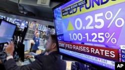 Ngân hàng trung ương Hoa Kỳ tăng lãi suất cơ bản 0.25%, 14/06/2017.