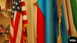 US Azerbaijani flag at USACC