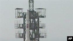 2009년 4월 '광명성 2호' 발사 장면.