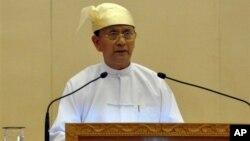 缅甸总统登盛(资料照片)