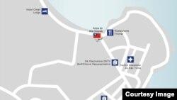 台湾驻圣多美普林西比首都圣多美的大使馆地图