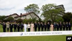 Lãnh đạo các nước thuộc nhóm G7 chụp ảnh tại Shima, Nhật Bản, ngày 27/5/2016.