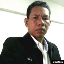 Oun Srean was a former duty head of the dissolved CNRP in Uddar Meanchey province.(Photo courtesy)