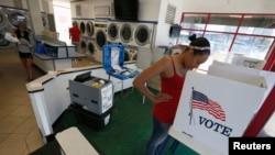 Amelia Sinclair, 25 ans, votant en Californie (Reuters)