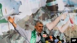 Foto de archivo de Yehiya Sinwar, que fue nombrado nuevo jefe de Hamas el 13 de febrero de este año.