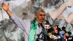 Yehiya Sinwar, seen in this 2011 file photo, is name new Hamas leader in Gaza, Feb. 13, 2017.