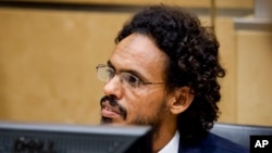 احمد الفاقی المهدی، عضو انصارالدین، در دادگاه بین المللی کیفری