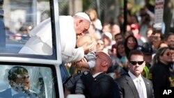 Papa nas ruas de Washington