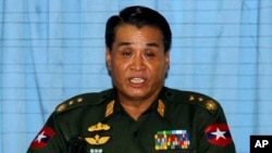 緬甸國防工業部部長登泰中將
