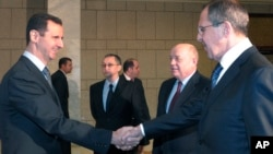 Башар Ассад и Сергей Лавров (фото из архива)