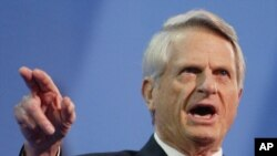 Democratic Sen. Zell Miller, of Georgia, gives the keynote address at the Republican National Convention, Sept.1, 2004, in New York.