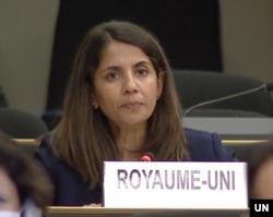 Đại sứ Quốc tế về Nhân quyền của Anh Rita French bày tỏ quan ngại về vi phạm nhân quyền Việt Nam ngày 15/9/2020. Photo UN Web TV