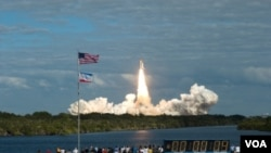 Atlantis despegó desde el Centro Espacial Kennedy de Florida.
