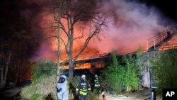 Požar u Zoološkom vrtu u Njemačkoj (Alexander Forstreuter/dpa via AP)