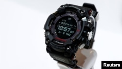 The Casio G-Shock Rangeman, a solar-powered watch with GPS navigation, during the 2018 CES in Las Vegas, Nevada, U.S
