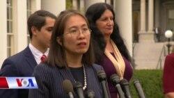 Blogger Mẹ Nấm gặp Tổng thống Trump, tưởng niệm nạn nhân cộng sản