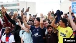 Lionel Messi arrives to join Paris St Germain at Le Bourget Airport, Paris, France - August 10, 2021.