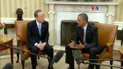 Obama y Ban se reúnen en la Casa Blanca