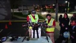 Випробування доставки органів для трансплантації за допомогою дронів. Відео