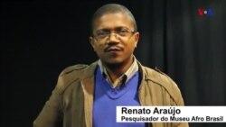 Imagens de sobas de Angola em exposição no Museu Afro Brasil