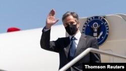تونی بلینکن، وزیر خارجه آمریکا، برای شرکت در نشستی بین المللی در مورد داعش وارد رم، ایتالیا شد - ۲۷ ژوئن ۲۰۲۱