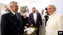 2014年1月21日教皇方济各在梵蒂冈的照片。