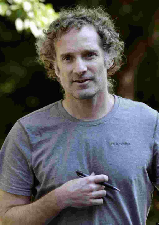 Azad edilən amerikalı jurnalist Piter Teo Kortis evinə qayıdıb - Kembric, Massaçutses, 27 avqust. 2014