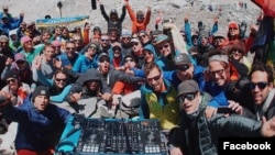 British DJ Paul Oakenfold performed at the base of Mount Everest in Nepal, on Tuesday, April 11. (Facebook)