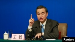 """Ông Vương Nghị khẳng định là Trung Quốc có quyền bảo vệ chủ quyền và quyền lợi của mình trước điều mà ông gọi là """"những sự khiêu khích vô lý."""""""