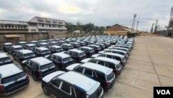 Les jeeps qui seront données aux députés de la RDC, le 5 Juillet 2021. (Communication Assemblée Nationale)