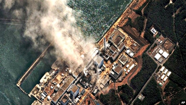 The earthquake and tsunami damaged Fukushima Daiichi nuclear plant located in the town of Okuma in the Futaba District of Fukushima Prefecture, Japan,  March 14, 2011
