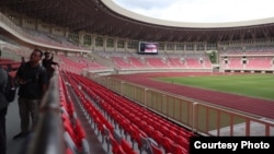 Stadion Utama Papua Bangkit di Jayapura, Papua, yang akan digunakan dalam gelaran PON XX Papua. (Courtesy: Humas Kemenpora)