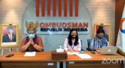 Anggota Ombudsman RI Alvin Lie dan Mory Yana Gultom saat menggelar konferensi pers tentang limbah medis secara online, Kamis (4/2/2021), dalam tangkapan layar.